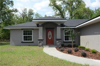 Beverly Hills, Citrus Hills, Citrus Springs, Crystal River, Dunnellon, Floral City, Hernando, Homassa, Homosassa, Inverness, Lecanto, Port Charlotte Single Family Home For Sale: 8686 N Spikes Way