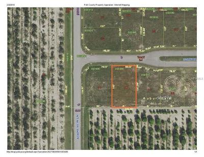 Auburndale Residential Lots & Land For Sale: 349 Doryman Way