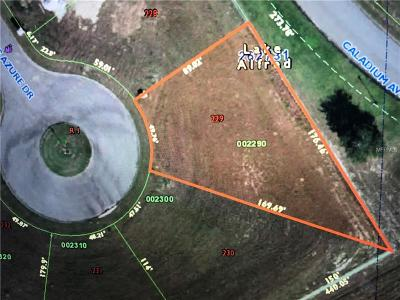 Lake Alfred Residential Lots & Land For Sale: 206 Spring Azure Drive