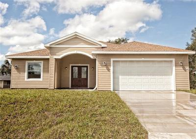 North Port Single Family Home For Sale: 2369 Mistleto Lane