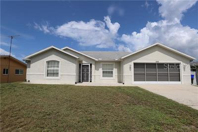 North Port Single Family Home For Sale: 320 San Marino Avenue