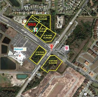 Kissimmee FL Residential Lots & Land For Sale: $1,790,000