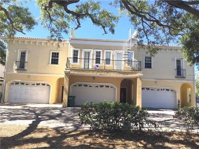 Hillsborough County, Pasco County, Pinellas County Townhouse For Sale: 5603 Bayshore Boulevard #A