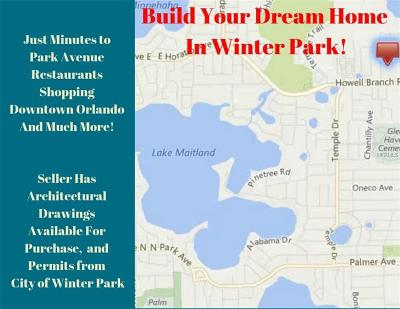 Winter Park Residential Lots & Land For Sale: 2888 Lolissa Lane