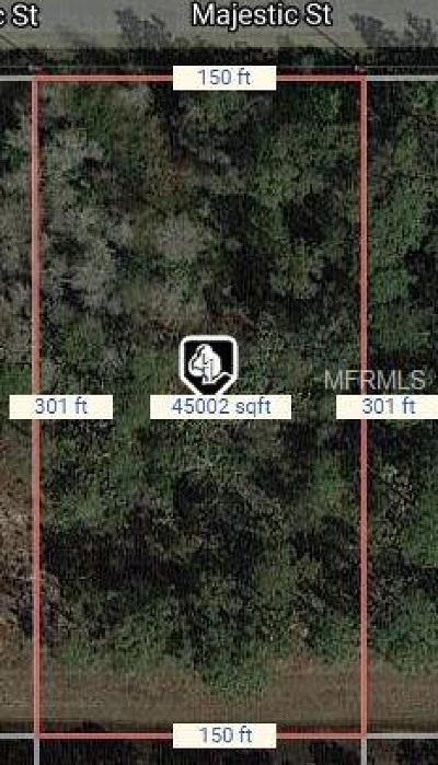 Wedgefield Residential Lots & Land For Sale: Majestic Street #31A