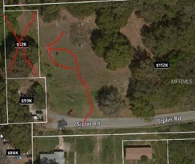 Winter Garden Residential Lots & Land For Sale: Siplin Road