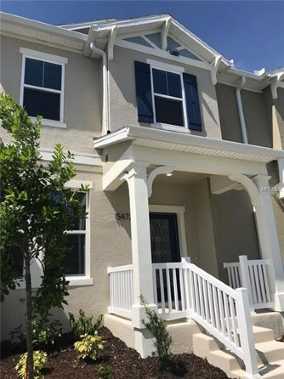 Winter Garden Townhouse For Sale: 15472 Blackbead Street