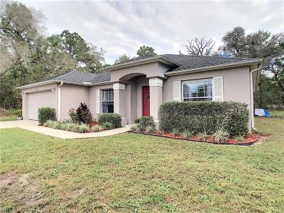 Citrus Springs Single Family Home For Sale: 3046 W Century Boulevard