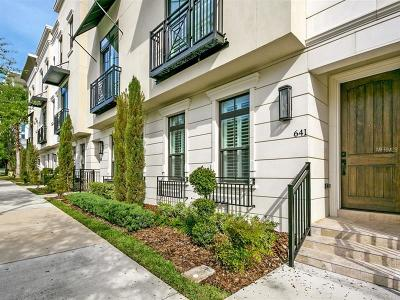 Orlando Townhouse For Sale: 641 E Jackson Street