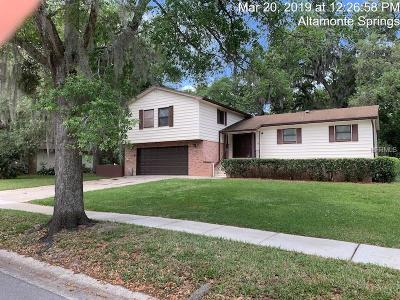 Altamonte Springs Single Family Home For Sale: 631 Little Wekiva Road
