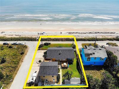 New Smyrna Beach, Daytona Beach, Cocoa Beach Single Family Home For Sale: 6500 S Atlantic Avenue