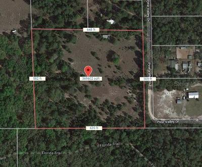 Residential Lots & Land For Sale: 41996 Pine Valley Drive