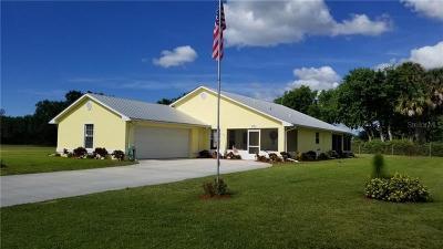 Okeechobee County Single Family Home For Sale: 2465 SW 33rd Circle
