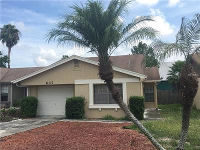 Winter Haven Single Family Home For Sale: 637 Lake Dexter Circle