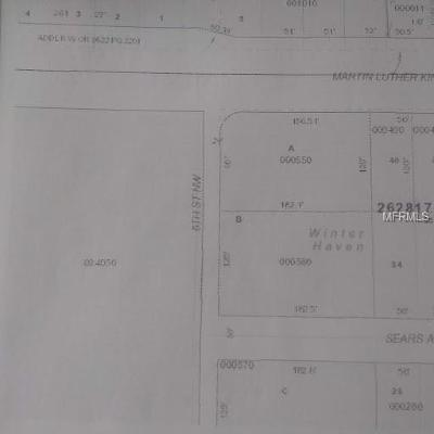 Winter Haven Residential Lots & Land For Sale: 1860 6th Street NW