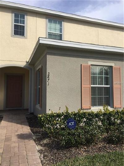 Kissimmee Townhouse For Sale: 2871 Sunstone Drive