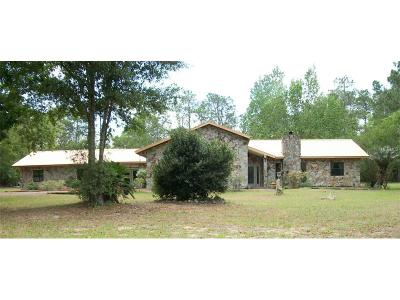 Lecanto Single Family Home For Sale: 8845 S Lecanto Highway