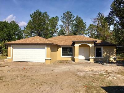 Hernando County Single Family Home For Sale: 5205 Courtland Road