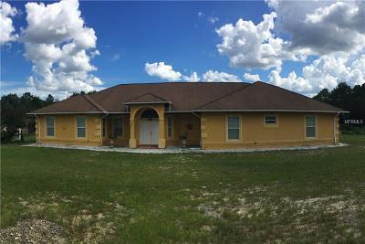 Ocala Single Family Home For Sale: 10170 SW 100th Street