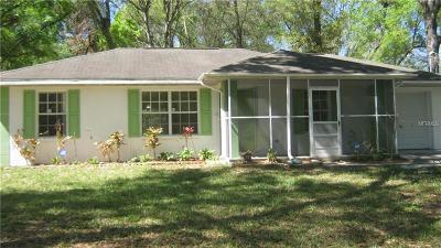 Dade City Single Family Home For Sale: 12041 Carmen Avenue