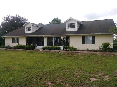 Dade City Single Family Home For Sale: 36314 Florrie Mae Lane