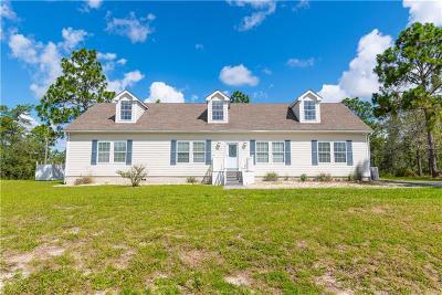 Weeki Wachee Single Family Home For Sale: 11485 Lomita Wren Road