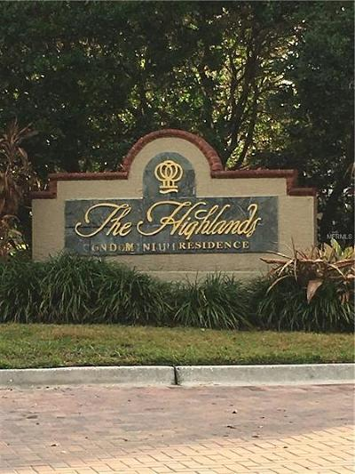 Tampa Condo For Sale: 9481 Highland Oak Drive #1016