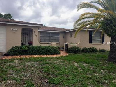 Port Richey Single Family Home For Sale: 9221 Rainbow Ln.