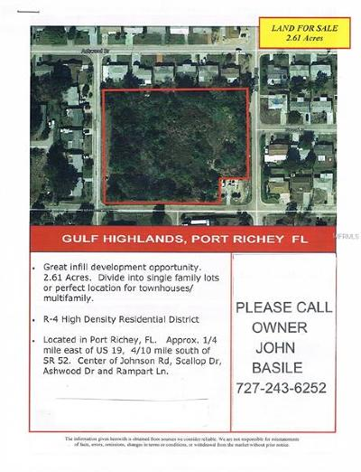 Port Richey Residential Lots & Land For Sale: Johnson Road