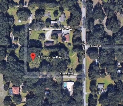 Plant City Residential Lots & Land For Sale: 7010 Creamer Road