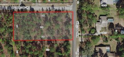 Lecanto Residential Lots & Land For Sale: 1308 N Prospect