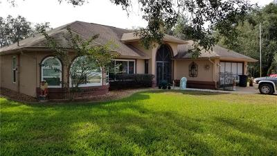 Aripeka, Booksville, Brooksville, Dade City, Hernando, Hernando Beach, Masaryktown, Nobleton, Ridge Manor, Spring Hill, Webster, Weeki Wachee Single Family Home For Sale: 11054 Frigate Bird Avenue