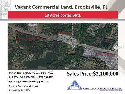 Hernando County Commercial For Sale: Cortez Blvd