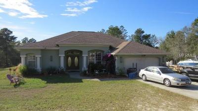 Brooksville Single Family Home For Sale: 9095 Jayson Drive