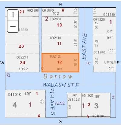 Bartow Residential Lots & Land For Sale: 1390 E Wabash Street