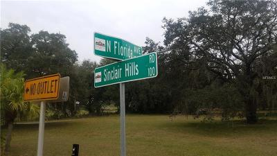 Tampa Residential Lots & Land For Sale: 15399 N Florida Avenue & Sinclair Hill Road