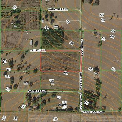 Pasco County Residential Lots & Land For Sale: 0 Lowrie Lane