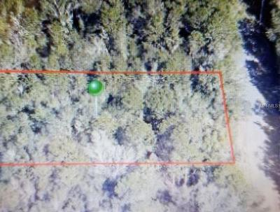 Inverness Residential Lots & Land For Sale: 9078 S Hammock Avenue
