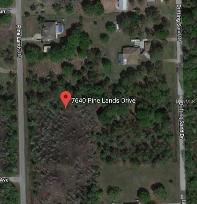 Wesley Chapel Residential Lots & Land For Sale: 7640 Pine Lands Drive