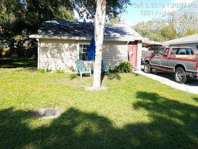 Sarasota Single Family Home For Auction: 1219 Highland Street