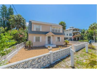 Single Family Home For Sale: 8601 W Gulf Boulevard