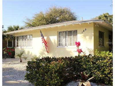 St Pete Beach Single Family Home For Sale: 105 17th Avenue