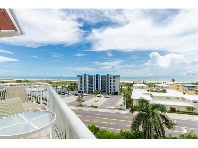 Treasure Island Condo For Sale: 11605 Gulf Boulevard #603