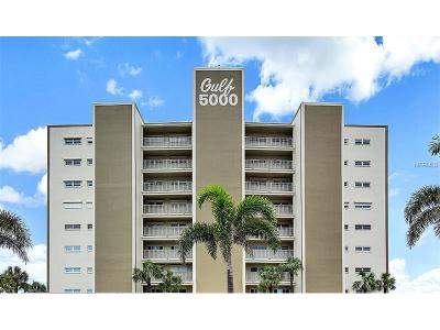 Saint Pete Beach, St Pete Beach Condo For Sale: 5000 Gulf Boulevard #103