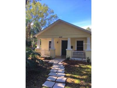 St Petersburg Single Family Home For Sale: 2100 14th Street N
