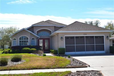 Hernando County Single Family Home For Sale: 394 Bloomfield Drive