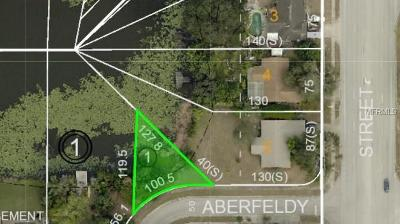 Hernando County, Hillsborough County, Pasco County, Pinellas County Residential Lots & Land For Sale: Aberfeldy Avenue N