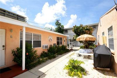 Treasure Island Condo For Sale: 7797 W Gulf Boulevard #3