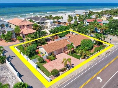 Single Family Home For Sale: 1518 Gulf Boulevard