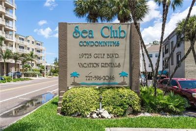 Indian Shores Condo For Sale: 19725 Gulf Boulevard #22